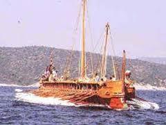 La Cesare Augusto lascia il porto di Ostia